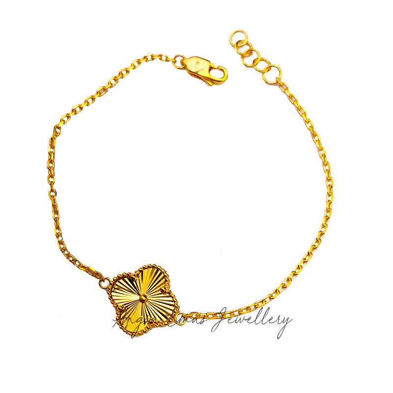 V-Clovershine One Flower Bracelet