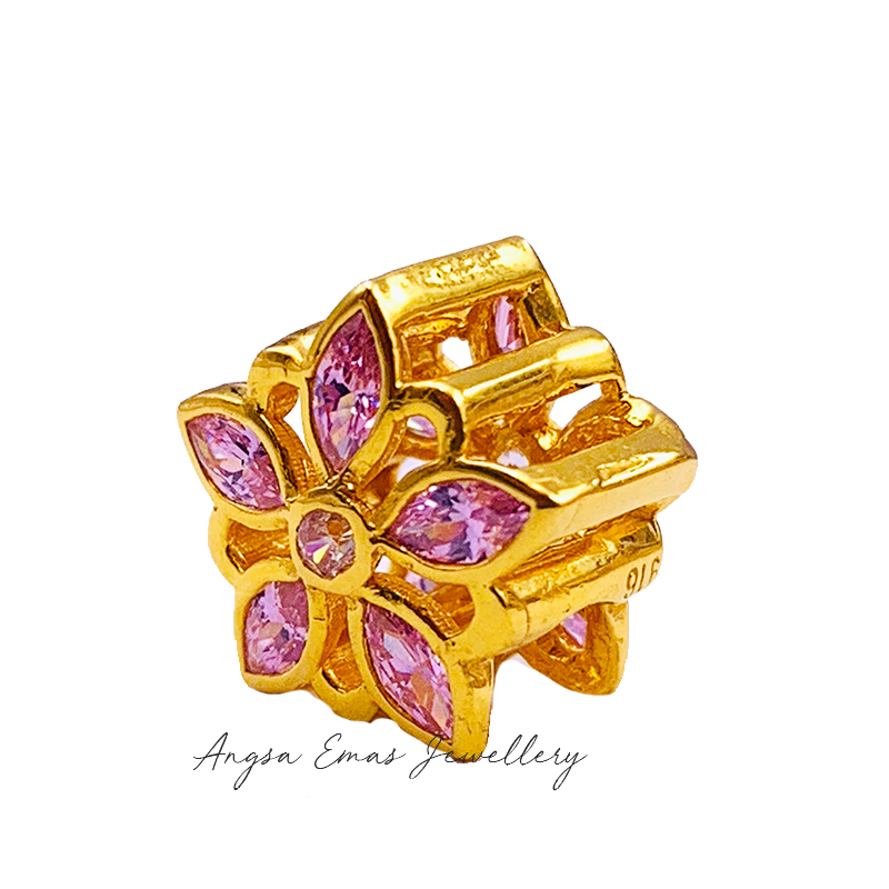 Lily Pink Stone Bead