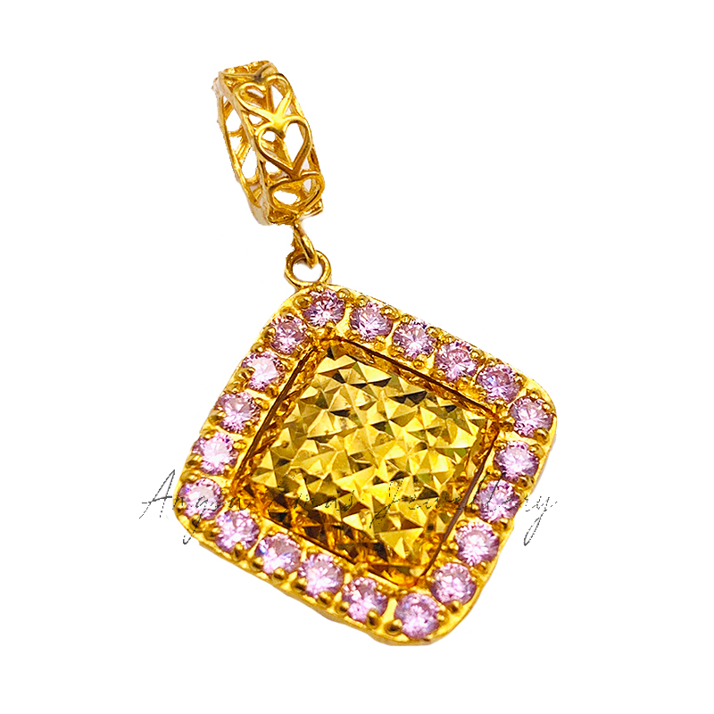 Pink Square Charm