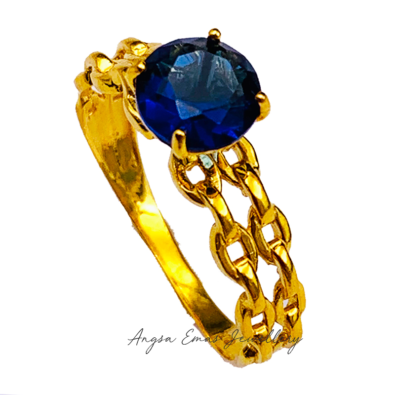 Vintage Royal Ring with Blue Stone