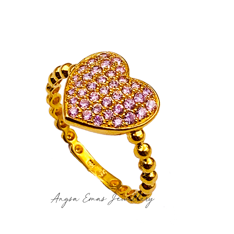 Love Pearly Pink Stone Ring