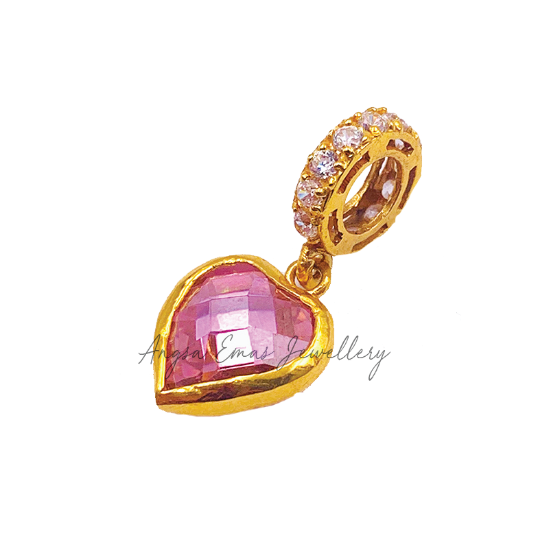 Crystal Pink Love Charm
