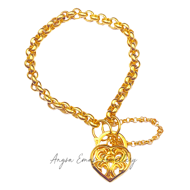 Goldie Love Chain Bracelet