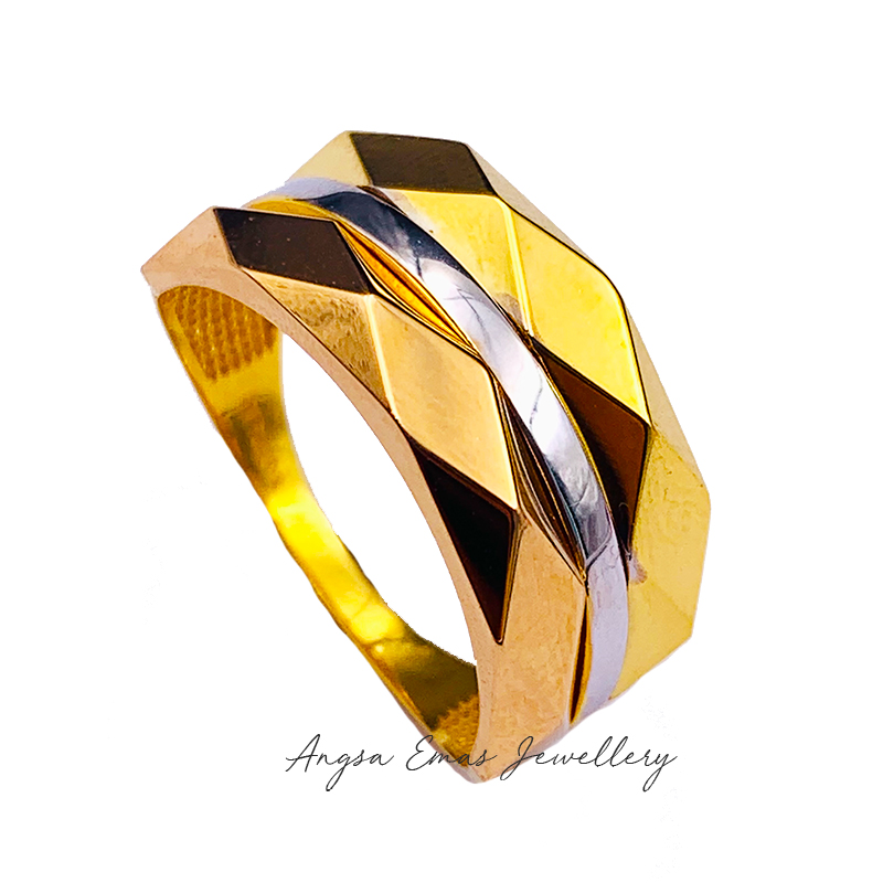 Hexa Double in Tricolour Ring