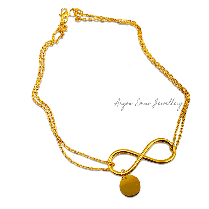Infinity Double Strand Anklet