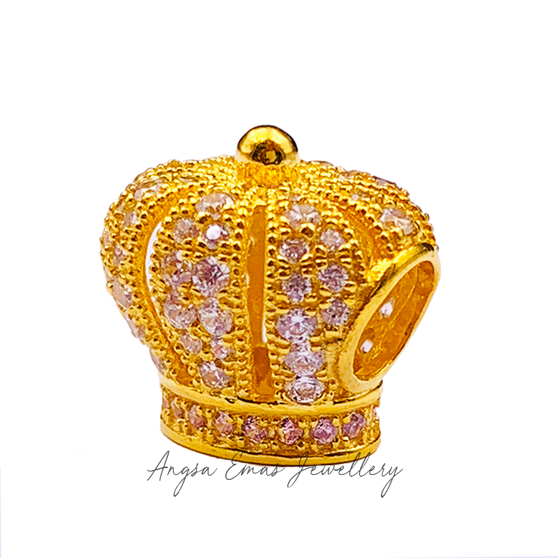 King Queen Crown Stone Bead