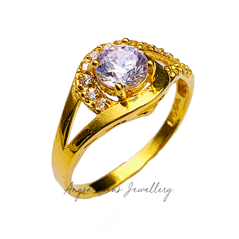 Oval Cross Stone Ring